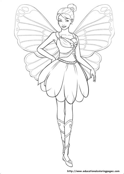 barbie mariposa coloring pages   kids