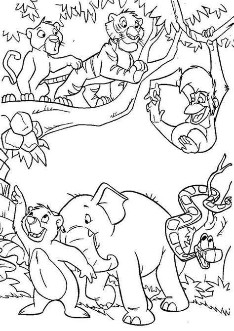 jungle book coloring pages    print