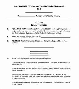 operating agreement template 8 free samples examples With operation agreement llc template