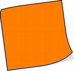 Orange Sticky Note Clip Art at Clker.com - vector clip art ...