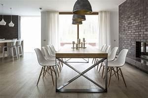 Esstisch Metallgestell Holzplatte : esszimmer einrichtung aktuelles design in 80 bildern ~ Markanthonyermac.com Haus und Dekorationen
