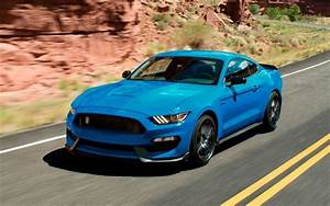 Download wallpapers Ford Mustang, 2018, Shelby GT350, sport car, bright blue Mustang, American ...