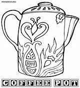 Coffee Coloring Colorings Coffee7 sketch template
