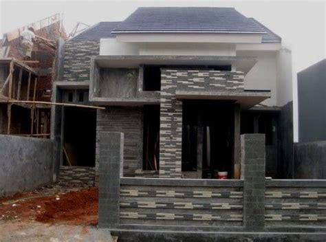 contoh teras rumah  batu alam   rumah rumah