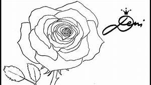 Zeichnen Lernen Mit Bleistift : rose schnell zeichnen lernen mit bleistift 1 vorzeichnung how to draw a rose ~ Frokenaadalensverden.com Haus und Dekorationen