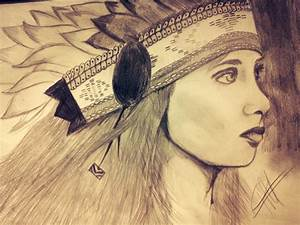 Native American Girl by raphiiz on DeviantArt