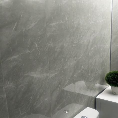 grey marble bathroom wall panels pvc mm thick cladding