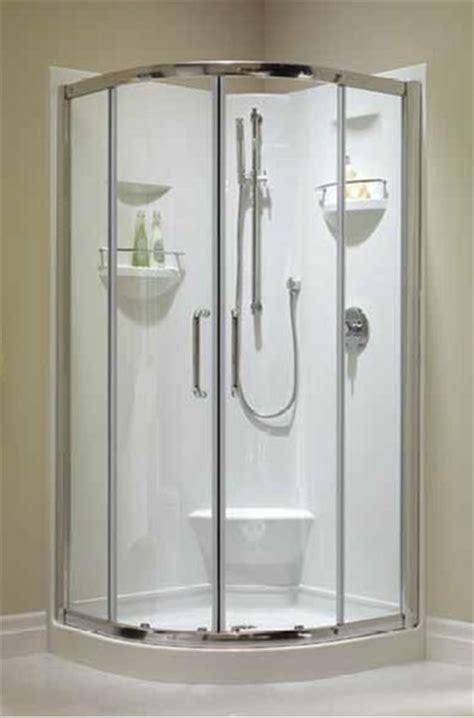 Neptune Izia Shower   Corner Shower Base & Door