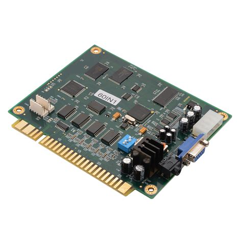 60 In 1 Classic Game Vertical Pcb Board For Jamma Wired