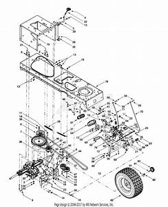 Troy Bilt 13bu609h063  2000  Parts Diagram For Drive  Controls  Rear Wheels
