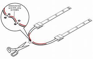 Led Strip Lights - 12v Led Tape Light With Lc2 Connector  Ft