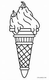 Ice Cream Coloring Printable Cool2bkids Cone Jeffersonclan Sheet Drawing sketch template
