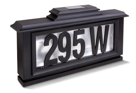 peyton outdoor solar led address plaque 2010 09 23