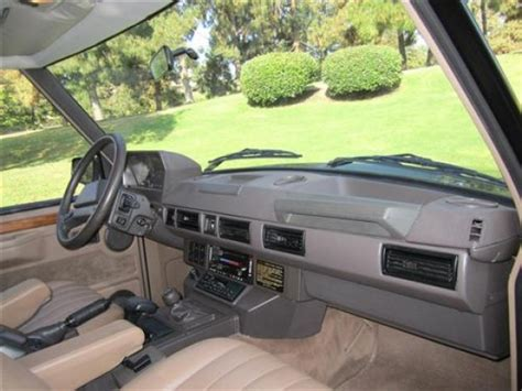 vintage range rover interior old style back dated 1990 range rover bring a trailer