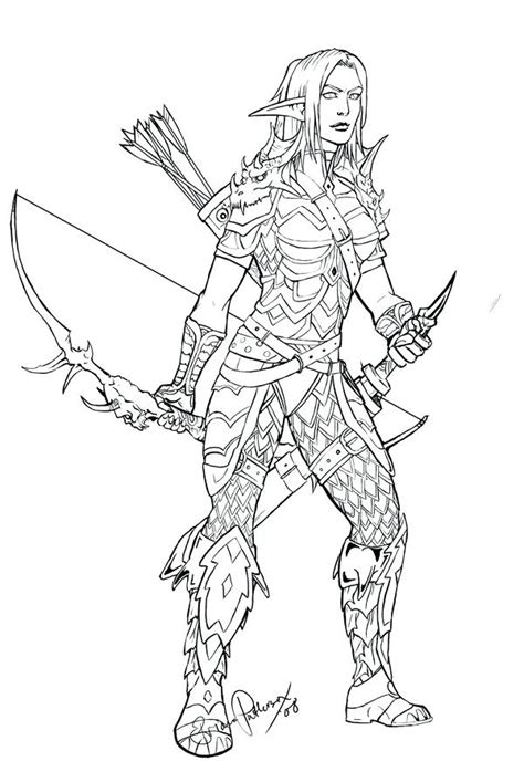 night elf coloring pages  getcoloringscom