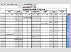 10+ monthly work schedule template Memo Formats