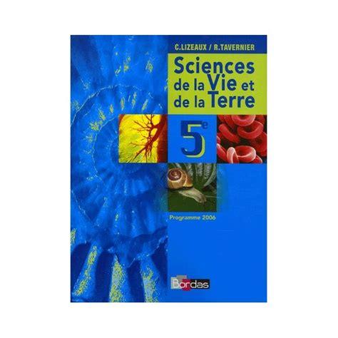 sciences de la vie et de la terre 5eme manuel 2006