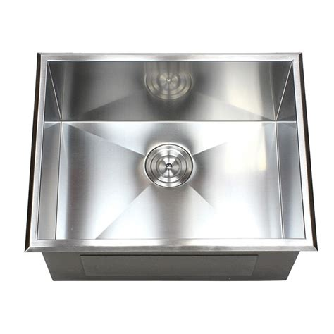 23 Inch Drop In Stainless Steel Single Bowl Kitchen