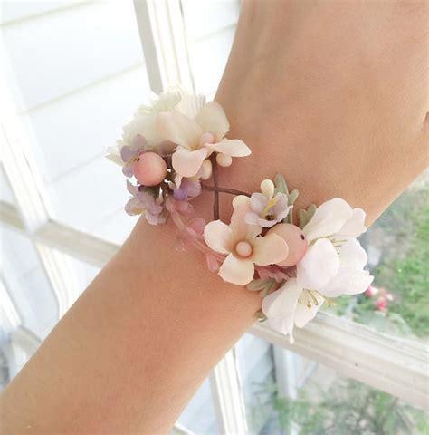 seidenkleider wedding corsage wrist bridal cuff