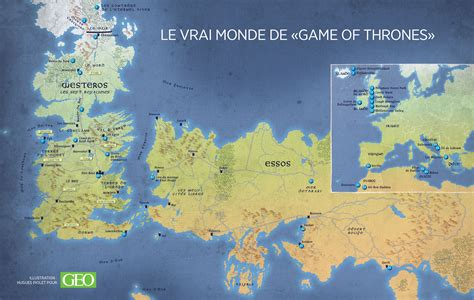 Carte Monde Of Thrones carte of thrones carte du monde