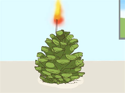 colorful pine cone fire starters  steps
