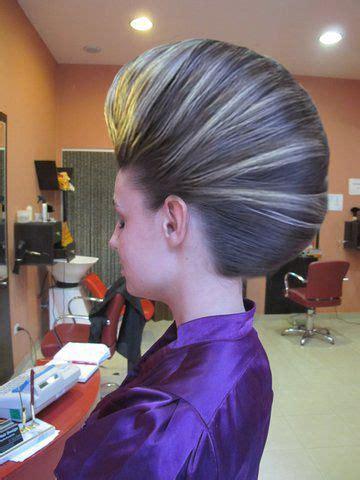 smooth bouffant french roll