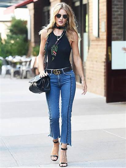 Rosie Huntington Whiteley Outfit Jeans Whowhatwear Street