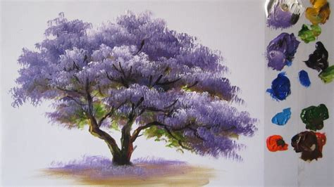 How To Paint A Tree In Acrylics Lesson 2 Youtube