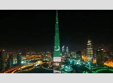 Video Dubai's Burj Khalifa lights up with Pakistan