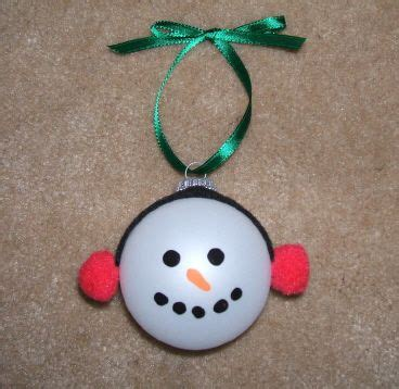 Homemade Snowman Christmas Ornament