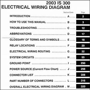 2003 Lexus Is 300 Wiring Diagram Manual Original