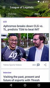 Yahoo Brings ESports Coverage To Mobile With Launch Of New