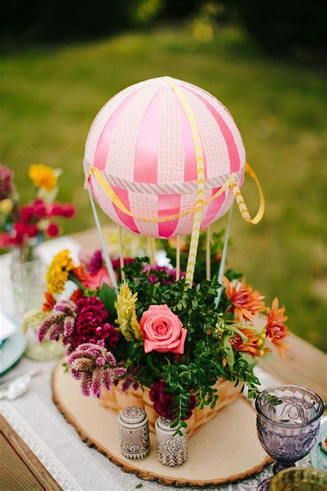Hot Air Balloon Inspiration Wedding Centerpieces