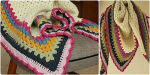 [Free Patter] Really easy and Super Warm Crochet Triangle
