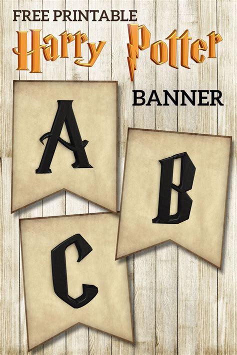 printable harry potter banner letters harry potter