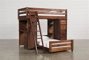 Sedona Twin Over Twin Loft Bunk With Chest & Desk - Living