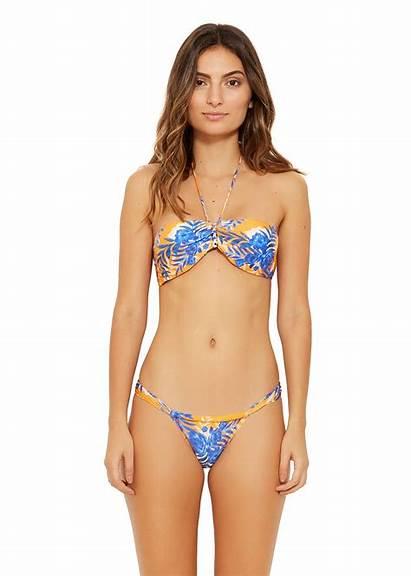 Cancun Solar Bikini Bikinis Brazilian Bandeau Orange