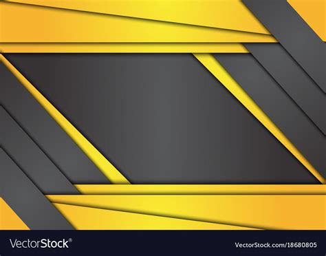Abstract Black Yellow by Black And Yellow Geometric Abstract Background Vector Image