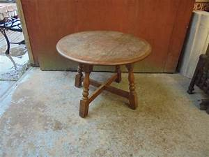small round wooden coffee table authentic reclamation With small round oak coffee table