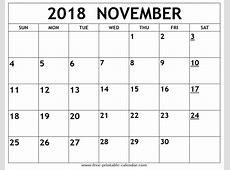 November 2018 Printable Calendar printable yearly calendar