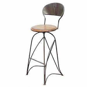 Tabouret De Bar Pivotant : tabouret de bar bistrot meuble fer forg palissandre ~ Dailycaller-alerts.com Idées de Décoration