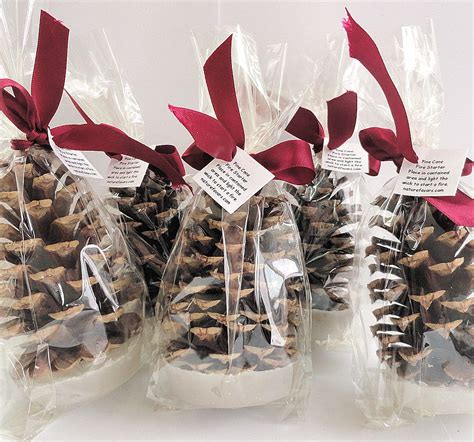 25 pine cone fire starter christmas party favors holiday