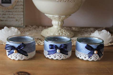 deco petit pot en verre photophores romantiques imprim 233 anges esprit shabby pots de yaourt comment recycler