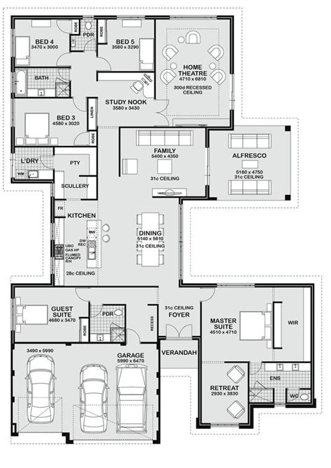 house floor plan layouts floor plan friday 5 bedroom entertainer floor plans