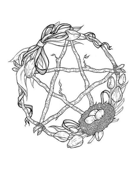 Wheel of the Year Sabbat Pentagram Wreath Prints   Etsy