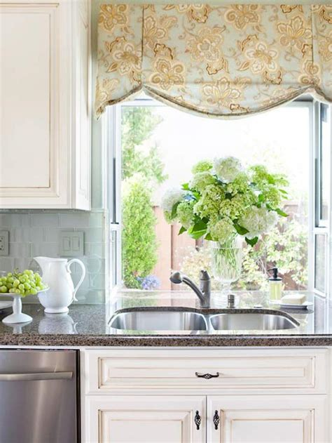 Decorating Ideas Kitchen Window Dressing by 30 Kitchen Window Treatment Ideas For Decoration