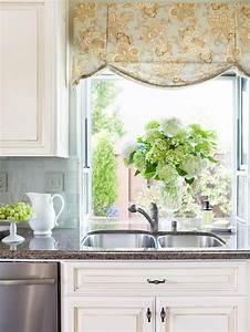 30 kitchen window treatment ideas for decoration for Ideas for window treatments