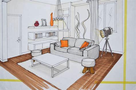 comment dessiner un canapé en perspective mobilier table dessiner une chambre en perspective