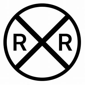 Railroad Crossing Icon - Free PNG and SVG Download
