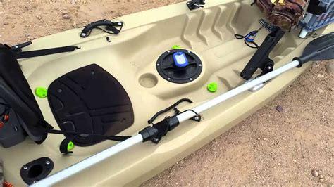 lifetime tamarack angler fishing kayak youtube